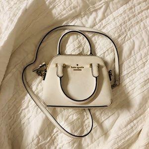 White Kate Spade Mini Crossbody Bag